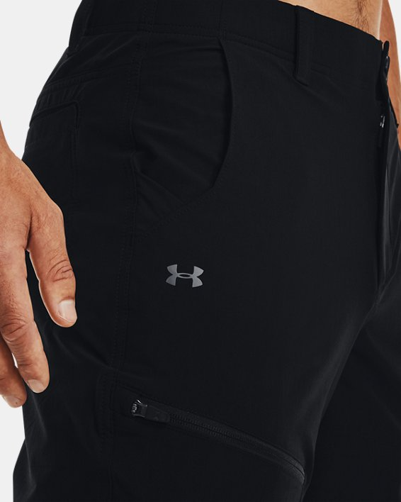 Men's UA Canyon Cargo Pants, Black, pdpMainDesktop image number 3