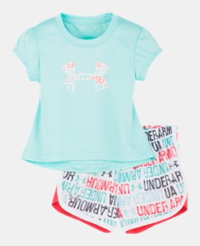 107b84bdeafe2 New Arrival Girls' Infant UA Brushy Wordmark Logo Set 1 Color Available $30