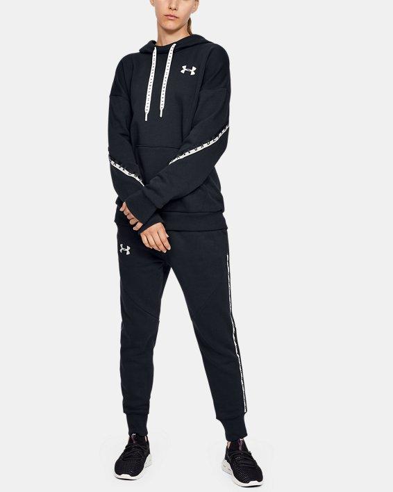 Women's UA Fleece Taped Wordmark Pants, Black, pdpMainDesktop image number 1