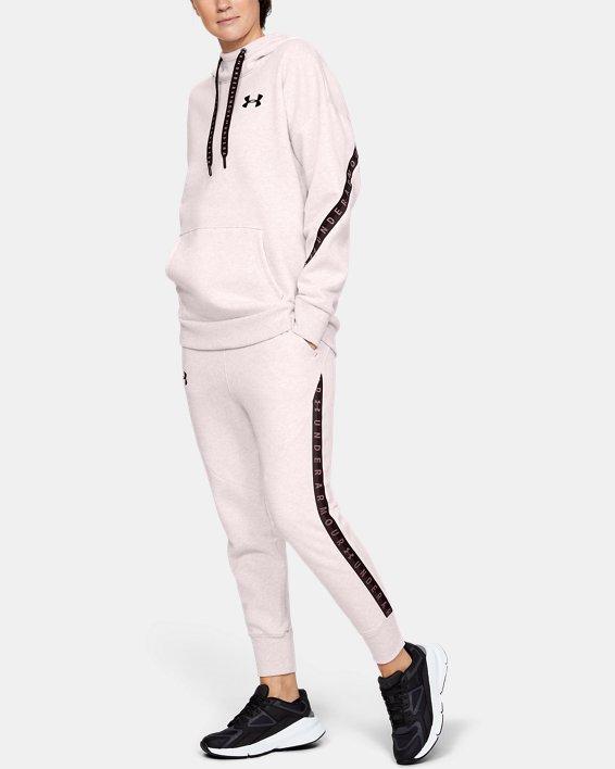 Women's UA Fleece Taped Wordmark Pants, Pink, pdpMainDesktop image number 1