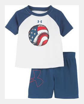 84b5cfa1feaa New Arrival Boys' Infant UA Flag Baseball Raglan Set 1 Color Available $30