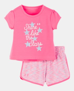 e51a9566d34d New Arrival Girls' Infant UA Shine Like The Stars Set GLITTER GRAPHIC 1  Color Available
