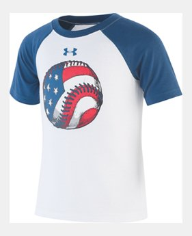 49efae08c2946 New Arrival Boys' Infant UA Flag Baseball Short Sleeve Raglan 1 Color  Available $16