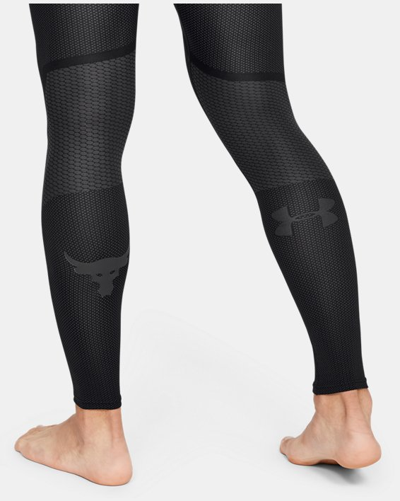 Men's Project Rock Seamless Leggings, Black, pdpMainDesktop image number 3