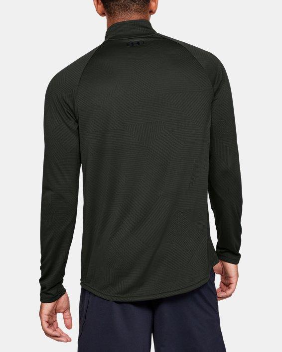 Men's UA Velocity 2.0 Jacquard ½ Zip, Green, pdpMainDesktop image number 2