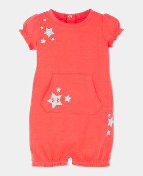 36a50a20b0f9 Girls' Infant UA Stars & Stars Coverall GLITTER GRAPHIC 1 Color Available  $23