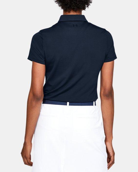 Polo UA Zinger à manches courtes pour femme, Navy, pdpMainDesktop image number 2