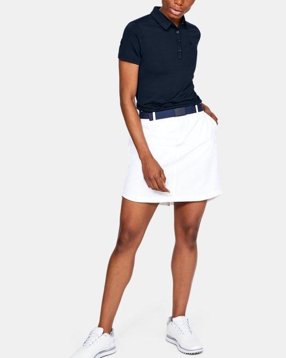 Polo UA Zinger à manches courtes pour femme, Navy, pdpMainDesktop image number 1