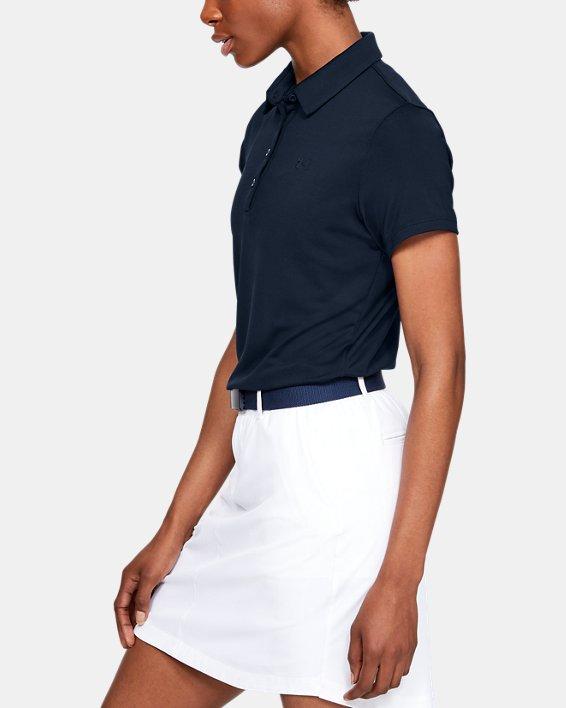 Polo UA Zinger à manches courtes pour femme, Navy, pdpMainDesktop image number 3