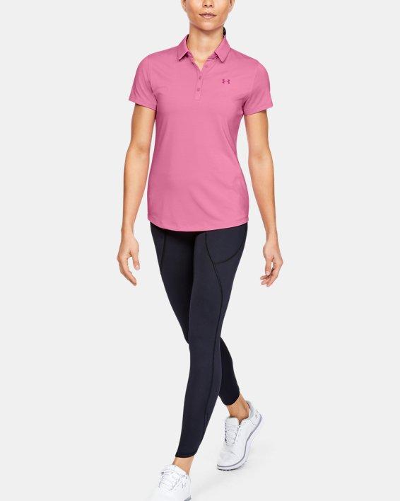 Women's UA Zinger Short Sleeve Polo, Pink, pdpMainDesktop image number 1
