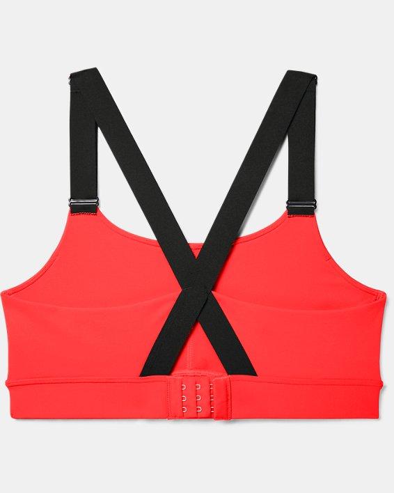Women's UA RUSH™ Mid Sports Bra, Red, pdpMainDesktop image number 3