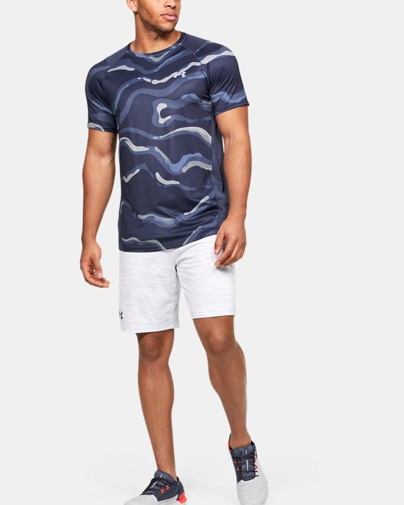 Men's UA MK-1 Printed Short Sleeve, Blue, pdpMainDesktop image number 1