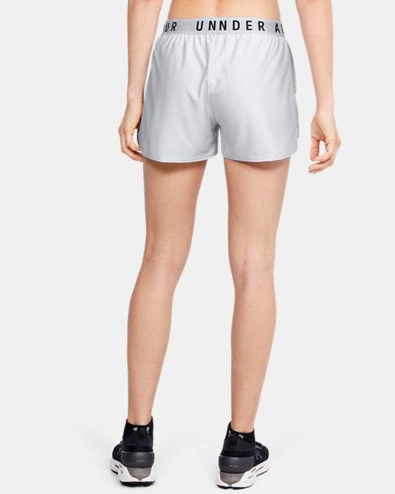 Women's UA Play Up Jacquard Inset Shorts, Gray, pdpMainDesktop image number 2