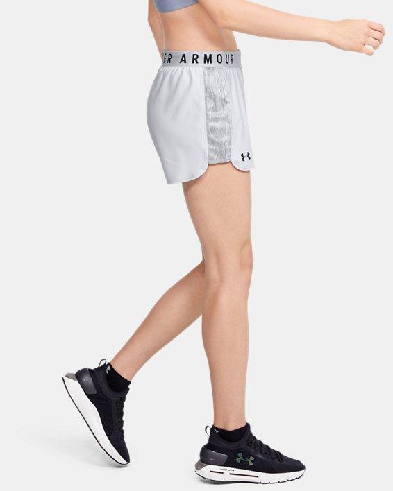 Women's UA Play Up Jacquard Inset Shorts, Gray, pdpMainDesktop image number 3