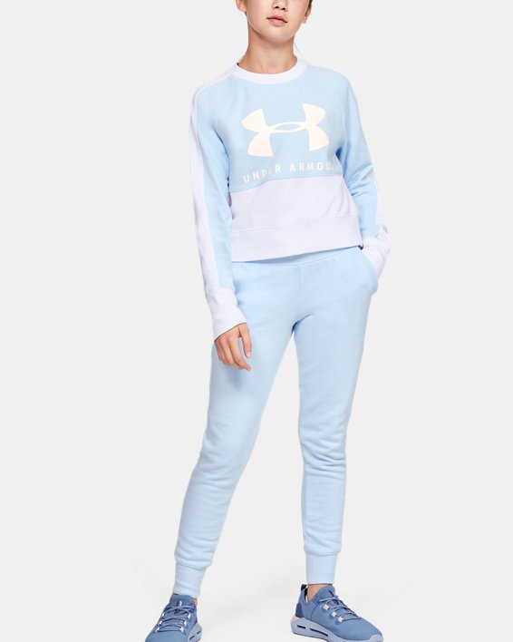 Girls' UA Rival Terry Crew, Blue, pdpMainDesktop image number 0
