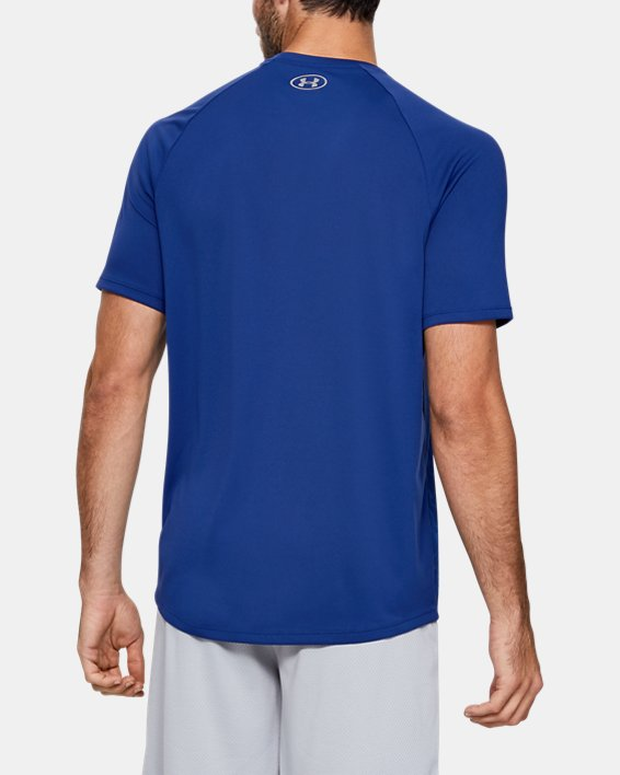 Men's UA Tech™ 2.0 Vibe Print Short Sleeve, Blue, pdpMainDesktop image number 2