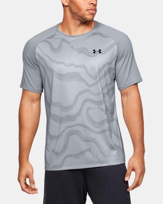 Men's UA Tech™ 2.0 Morph FS Print Short Sleeve, Gray, pdpMainDesktop image number 1