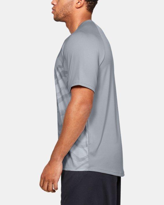 Men's UA Tech™ 2.0 Morph FS Print Short Sleeve, Gray, pdpMainDesktop image number 3