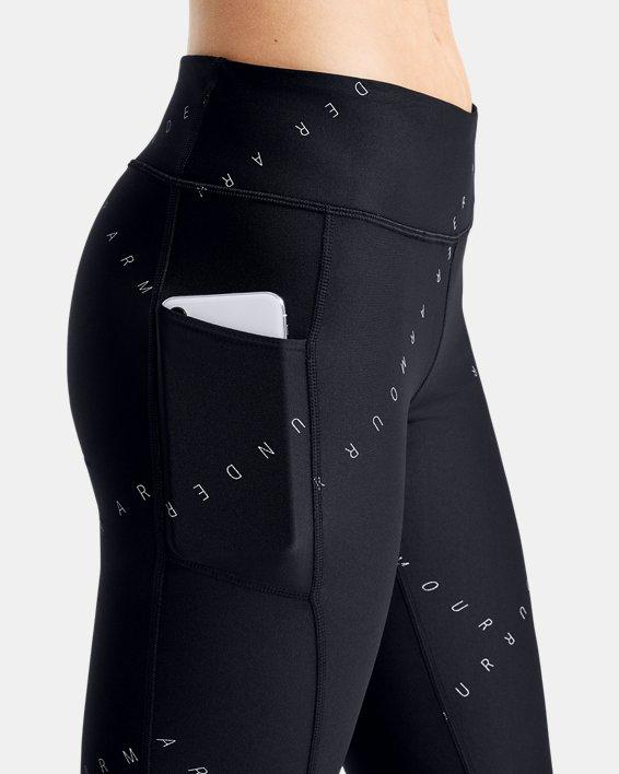 Women's HeatGear® Armour Printed Ankle Crop, Black, pdpMainDesktop image number 5