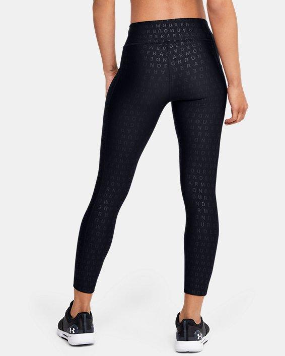 Women's HeatGear® Armour Printed Ankle Crop, Black, pdpMainDesktop image number 2