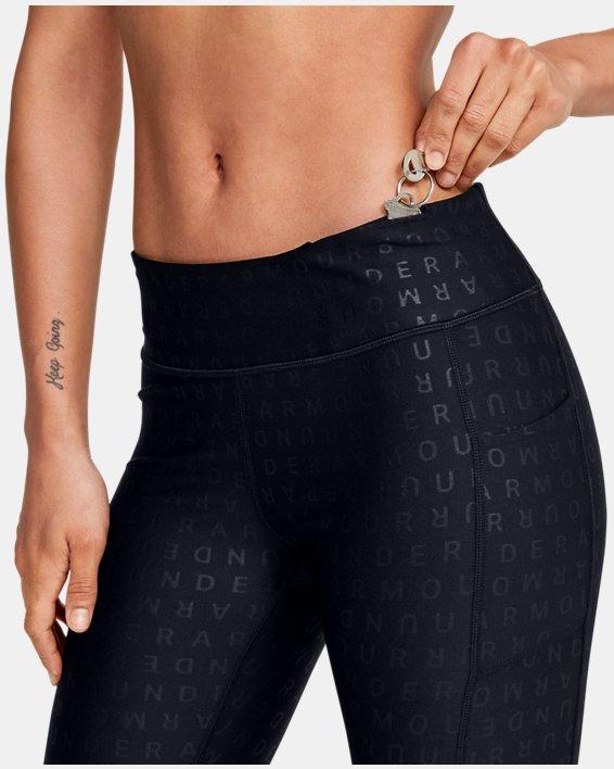 Women's HeatGear® Armour Printed Ankle Crop, Black, pdpMainDesktop image number 6
