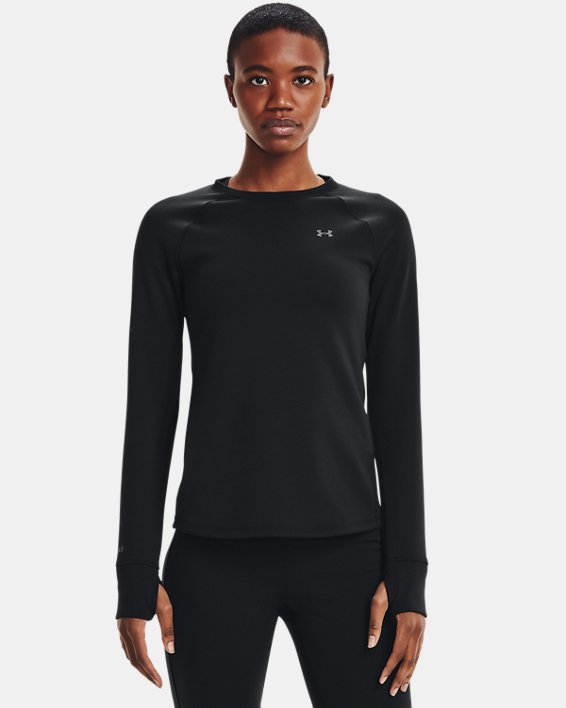 Damen ColdGear® Base4.0 Shirt mit Rundhalsausschnitt, Black, pdpMainDesktop image number 1