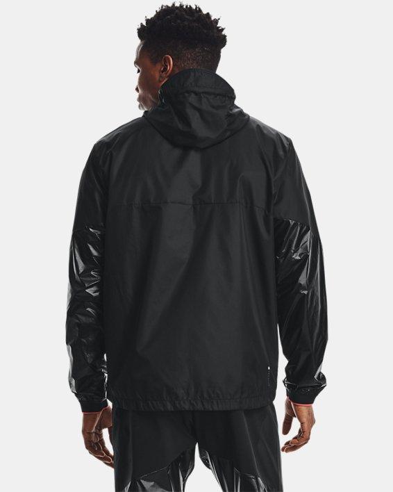 Men's UA RUSH™ Legacy Windbreaker Jacket, Black, pdpMainDesktop image number 2