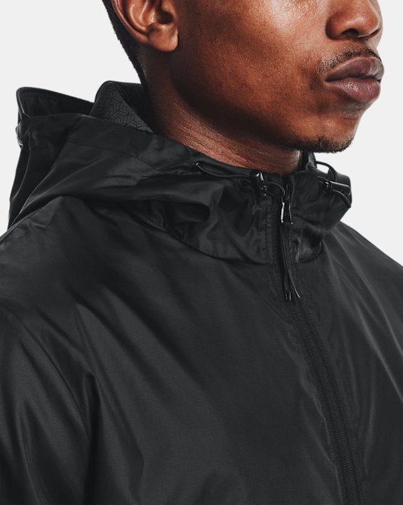 Men's UA RUSH™ Legacy Windbreaker Jacket, Black, pdpMainDesktop image number 6