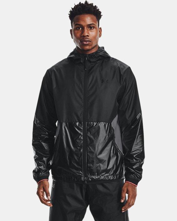 Men's UA RUSH™ Legacy Windbreaker Jacket, Black, pdpMainDesktop image number 1