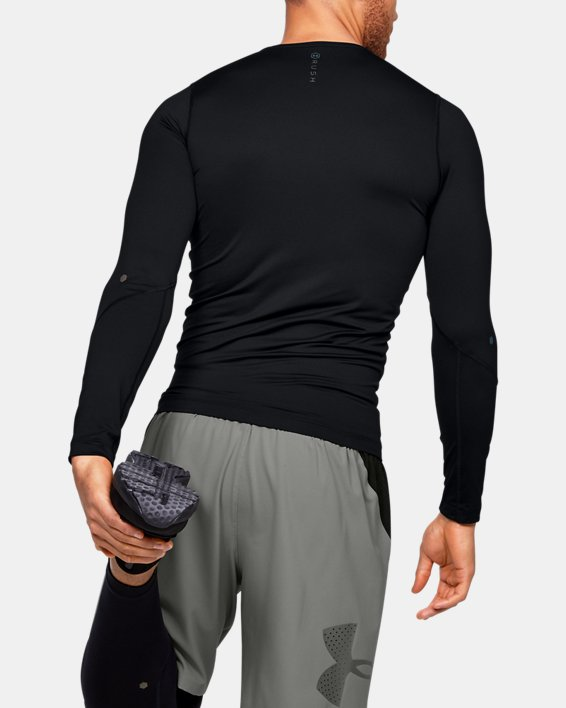 T-shirt à manches longues UA RUSH™ HeatGear® Compression pour homme, Black, pdpMainDesktop image number 2