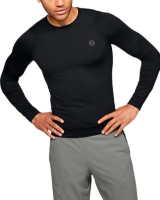 Men compression under armour sweater top half sleeve thermal gym sports shirt