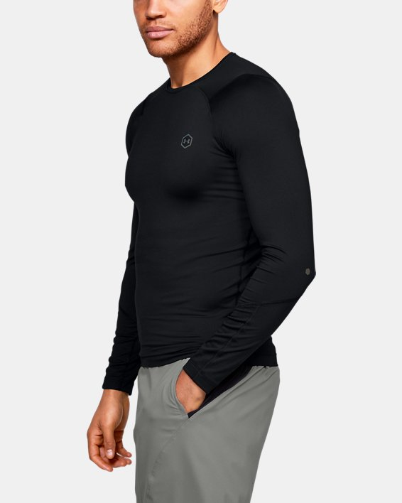 T-shirt à manches longues UA RUSH™ HeatGear® Compression pour homme, Black, pdpMainDesktop image number 3