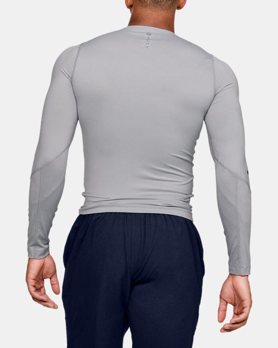 Men's UA RUSH™ HeatGear® Compression Long Sleeve, Gray, pdpMainDesktop image number 2