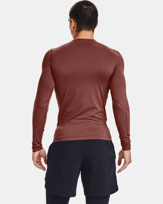 Men's UA RUSH™ HeatGear® Compression Long Sleeve, Red, pdpMainDesktop image number 2