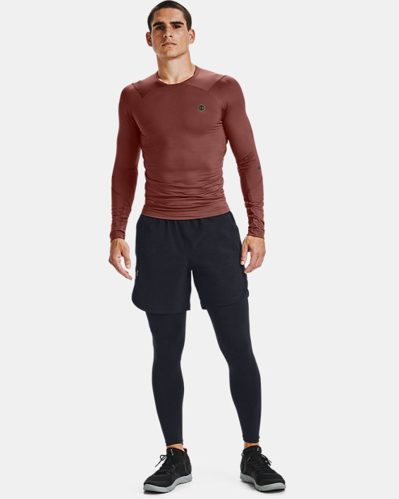 Men's UA RUSH™ HeatGear® Compression Long Sleeve, Red, pdpMainDesktop image number 1