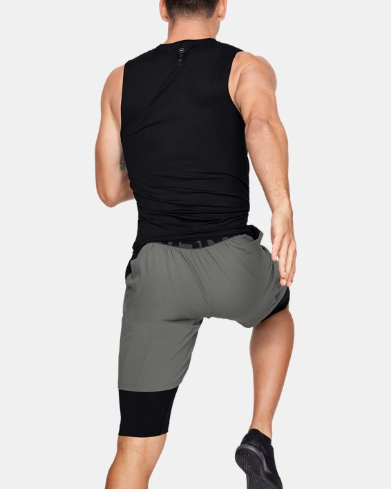Men's UA RUSH™ HeatGear® Compression Sleeveless, Black, pdpMainDesktop image number 2