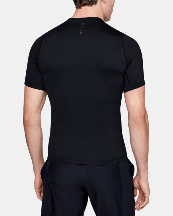 T-shirt à manches courtes UA RUSH™ HeatGear® Compression pour homme, Black, pdpMainDesktop image number 2