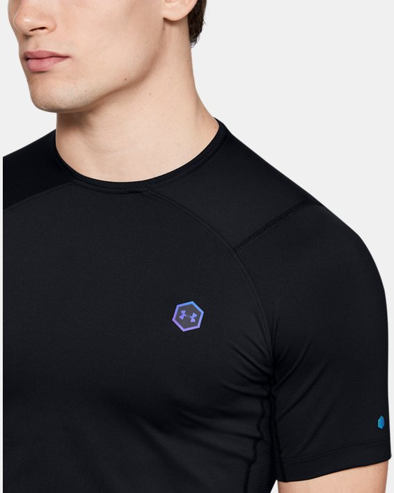 T-shirt à manches courtes UA RUSH™ HeatGear® Compression pour homme, Black, pdpMainDesktop image number 5