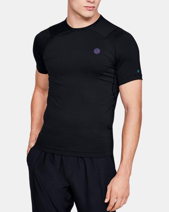 T-shirt à manches courtes UA RUSH™ HeatGear® Compression pour homme, Black, pdpMainDesktop image number 0