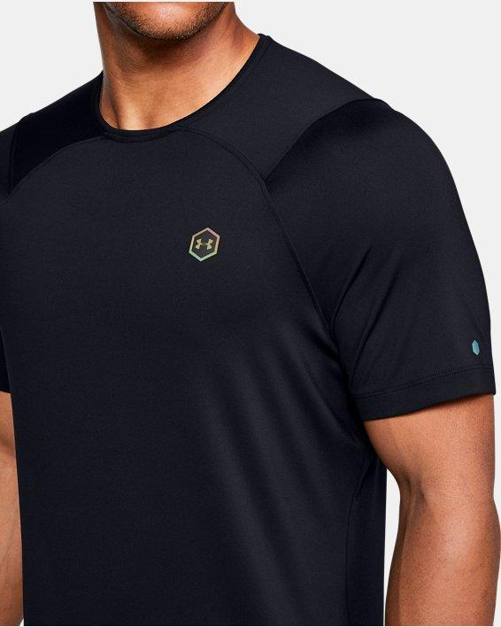 Men's UA RUSH™ HeatGear® Fitted Short Sleeve, Black, pdpMainDesktop image number 5