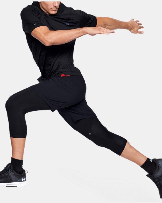 Men's UA RUSH™ HeatGear® Short Sleeve Hoodie, Black, pdpMainDesktop image number 1