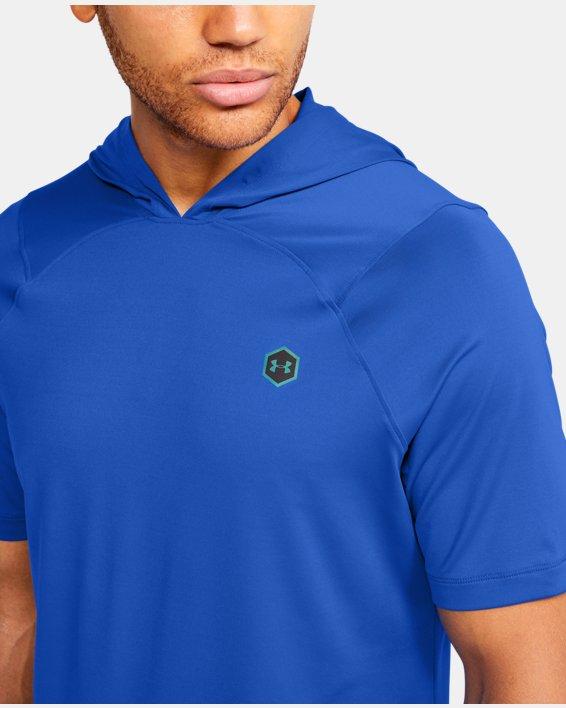 Men's UA RUSH™ HeatGear® Short Sleeve Hoodie, Blue, pdpMainDesktop image number 5