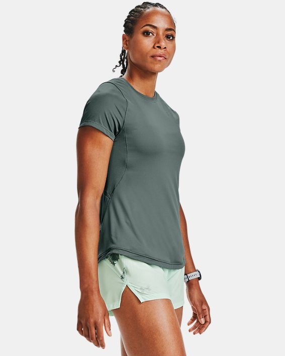 Women's UA Qualifier Iso-Chill Short Sleeve, Blue, pdpMainDesktop image number 1
