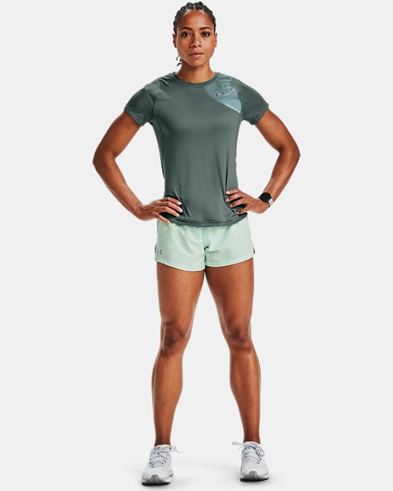 Women's UA Qualifier Iso-Chill Short Sleeve, Blue, pdpMainDesktop image number 0