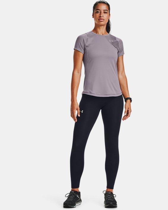 Women's UA Qualifier Iso-Chill Short Sleeve, Purple, pdpMainDesktop image number 0