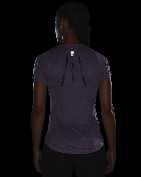 Women's UA Qualifier Iso-Chill Short Sleeve, Purple, pdpMainDesktop image number 5