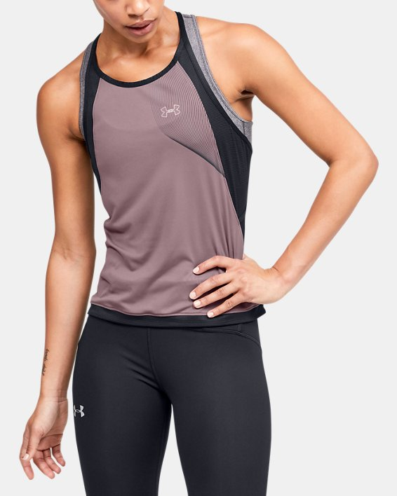 Women's UA Qualifier Iso-Chill Tank, Pink, pdpMainDesktop image number 0