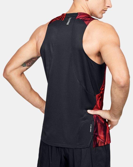 Men's UA Qualifier Iso-Chill Printed Singlet, Red, pdpMainDesktop image number 2