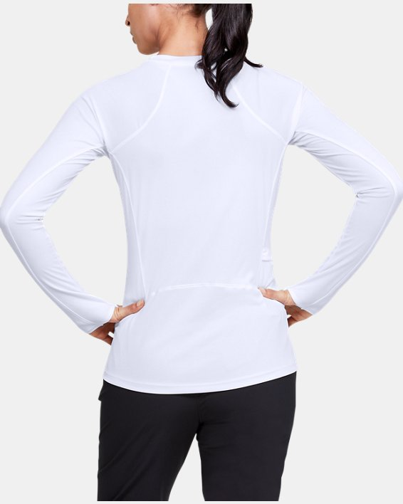 Women's UA Sun Armour Long Sleeve, White, pdpMainDesktop image number 2