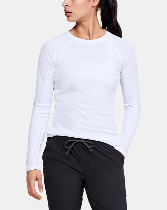 Women's UA Sun Armour Long Sleeve, White, pdpMainDesktop image number 0